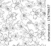 cherry blossom seamless pattern.... | Shutterstock .eps vector #176798657