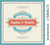 wedding invitation card... | Shutterstock .eps vector #176808173