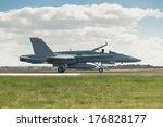 Air Force Jet Landing On Runway
