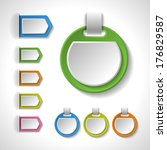 set of colorful blank badges ... | Shutterstock .eps vector #176829587