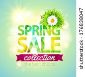 spring sale collection. vector... | Shutterstock .eps vector #176838047