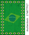 brazilian dirty poster frame   Shutterstock .eps vector #176877917