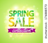 spring sale collection. vector... | Shutterstock .eps vector #176888573