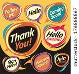 set of vector speech bubbles | Shutterstock .eps vector #176888867