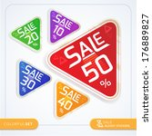 set of commercial sale stickers | Shutterstock .eps vector #176889827