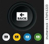 arrow sign icon. back button....