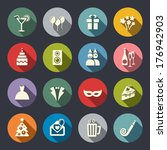 party icons | Shutterstock .eps vector #176942903