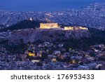 the acropolis of athens in... | Shutterstock . vector #176953433
