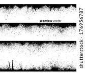 abstract seamless grunge black... | Shutterstock .eps vector #176956787