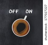 cup of coffee switching on | Shutterstock . vector #177027227