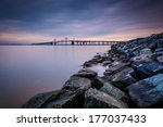Long Exposure Of A Jetty And...