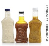 assortment of salad dressing... | Shutterstock . vector #177048137