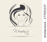 happy womens day greeting card... | Shutterstock . vector #177052157