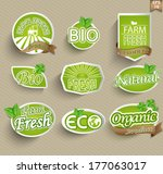 natural organic product labels  ... | Shutterstock .eps vector #177063017