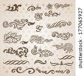 vector vintage baroque... | Shutterstock .eps vector #177065927