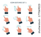 gesture icons for touch devices | Shutterstock .eps vector #177069023