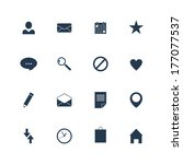 set of flat vector icons.  | Shutterstock .eps vector #177077537