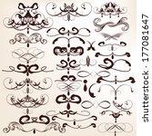 vector set of calligraphic... | Shutterstock .eps vector #177081647
