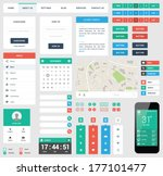 ui flat design web elements | Shutterstock .eps vector #177101477