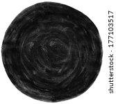 black blank watercolor round... | Shutterstock . vector #177103517