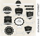 vintage labels and ribbon retro ... | Shutterstock .eps vector #177134867