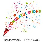 party popper explosion    Shutterstock . vector #177149603