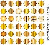 set of star shape gold... | Shutterstock . vector #177157463