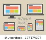 responsive web design... | Shutterstock .eps vector #177174377