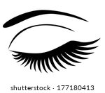 vector eye closed with long... | Shutterstock .eps vector #177180413