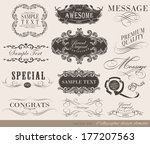 calligraphic design elements | Shutterstock . vector #177207563
