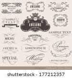 calligraphic design elements... | Shutterstock . vector #177212357