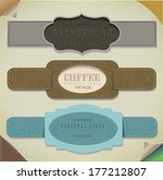 set retro vintage ribbons and... | Shutterstock . vector #177212807