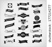set of retro vintage labels ... | Shutterstock . vector #177214277