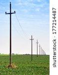 Old Retro Telephone Poles In...