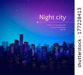 night city. vector illustration.   Shutterstock .eps vector #177228413