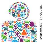 customer support    illustration   Shutterstock .eps vector #177229103