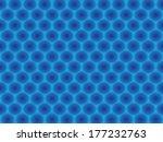blue circular hypnotic pattern