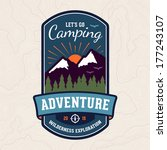camping wilderness adventure... | Shutterstock .eps vector #177243107