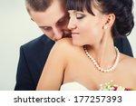 wedding couple. bride and groom ... | Shutterstock . vector #177257393