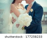 just married couple embraced | Shutterstock . vector #177258233