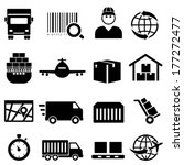 shipping and cargo icon set | Shutterstock .eps vector #177272477