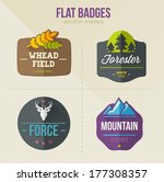flat vector badges. outdoors | Shutterstock .eps vector #177308357