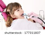 little girl with open mouth... | Shutterstock . vector #177311837