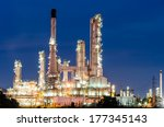 oil refinery plant at twilight... | Shutterstock . vector #177345143