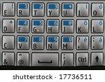mobile keyboard   Shutterstock . vector #17736511