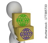 new and used boxes meaning... | Shutterstock . vector #177385733