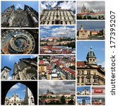 photo collage from prague ... | Shutterstock . vector #177395207