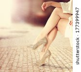 legs of woman  | Shutterstock . vector #177399947