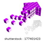 arrow icon made of cubes... | Shutterstock .eps vector #177401423