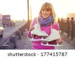 beautiful smiling blond woman...   Shutterstock . vector #177415787